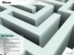 Stock Photo Maze Graphic To Show Problem Solving Concept PowerPoint Slide