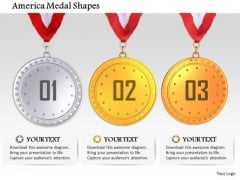 Stock Photo Medals For First Second And Third Winners PowerPoint Slide