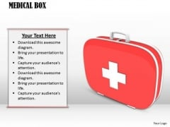 Stock Photo Medical Box First Aid Kit PowerPoint Slide