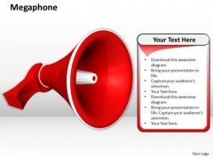 Stock Photo Megaphone Red Color PowerPoint Slide