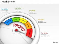 Stock Photo Meter Indicating Maximum Level Of Profit PowerPoint Slide