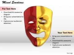 Stock Photo Mixed Emotions PowerPoint Slide