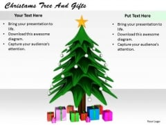 Stock Photo Modern Marketing Concepts Christams Tree And Gifts Images Business