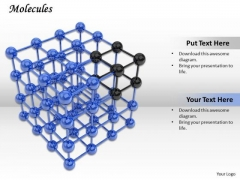 Stock Photo Molecules Cube PowerPoint Slide
