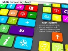 Stock Photo Multi Purpose Key Board PowerPoint Slide