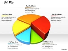 Stock Photo Multicolor Pie Chart For Business Result Analysis PowerPoint Slide