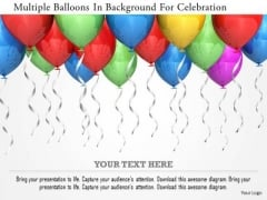 Stock Photo Multiple Balloons In Background For Celebration PowerPoint Slide
