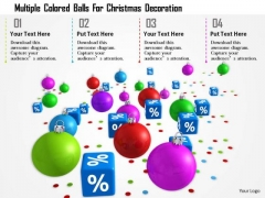 Stock Photo Multiple Colored Balls For Christmas Decoration PowerPoint Slide