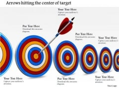 Stock Photo Multiple Target Darts With One Arrow Hitting PowerPoint Slide