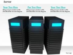 Stock Photo Network Of Servers For Internet PowerPoint Slide