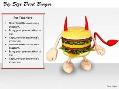 Stock Photo New Business Strategy Big Size Devil Burger Best