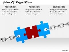 Stock Photo New Business Strategy Chain Of Puzzle Pieces Pictures