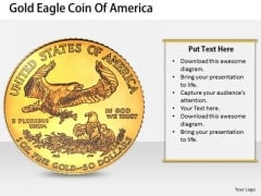 Stock Photo New Business Strategy Gold Eagle Coin Of America Stock Images