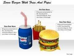 Stock Photo New Business Strategy Serve Burger With Fries And Pepsi Images Photos