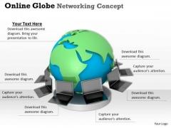 Stock Photo Online Global Networking PowerPoint Slide