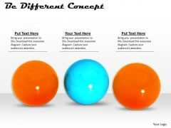 Stock Photo Orange Balls With One Blue Ball For Leadership PowerPoint Slide