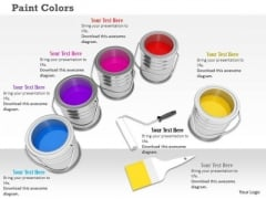 Stock Photo Paint Color Tins PowerPoint Slide