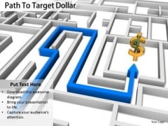 Stock Photo Path To Target Dollar Symbol PowerPoint Slide
