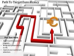 Stock Photo Path To Target Euro Currency Symbol PowerPoint Slide