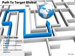 Stock Photo Path To Target Globe PowerPoint Slide