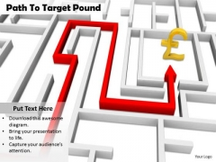 Stock Photo Path To Target Pound Symbol PowerPoint Slide