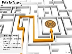 Stock Photo Path To Target PowerPoint Slide