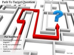 Stock Photo Path To Target Question Mark PowerPoint Slide
