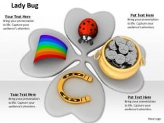 Stock Photo Patricks Day Symbols On Clover Leaf PowerPoint Slide