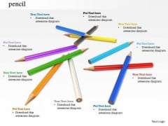 Stock Photo Pencils Multicolored PowerPoint Slide