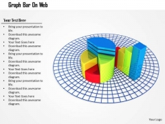 Stock Photo Pie Chart And Bar Graph On Web PowerPoint Slide