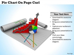 Stock Photo Pie Chart On Page Curl PowerPoint Slide