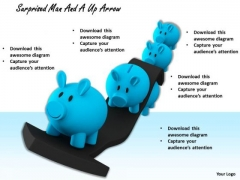 Stock Photo Piggy Bank On Up Arrow PowerPoint Slide