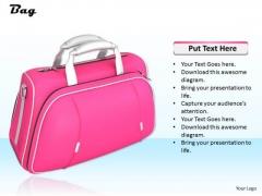 Stock Photo Pink Designer Hand Bag For Ladies PowerPoint Slide
