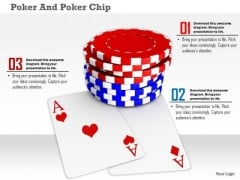 Stock Photo Playing Cards With Poker Chips PowerPoint Slide
