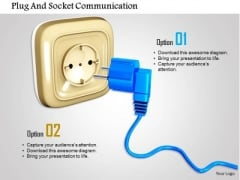 Stock Photo Plug And Socket Communication PowerPoint Slide