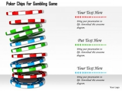 Stock Photo Poker Chips For Gambling Game PowerPoint Slide