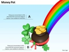 Stock Photo Pot And Rainbow PowerPoint Slide