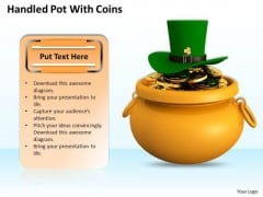 Stock Photo Pot Full With Gold And Green Hat PowerPoint Slide