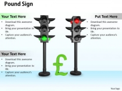 Stock Photo Pound Sign In Traffic Lights PowerPoint Slide