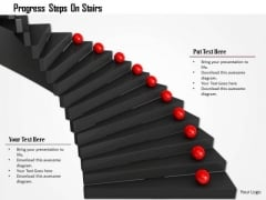 Stock Photo Progress Steps On Stairs PowerPoint Slide