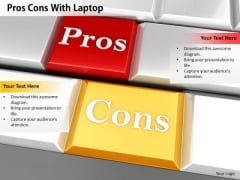Stock Photo Pros Cons Text On Computer Keys PowerPoint Slide