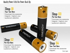 Stock Photo Quality Power Cells For Power Back Up PowerPoint Slide