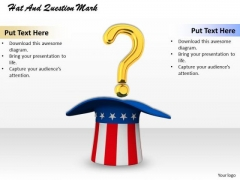 Stock Photo Question Mark On American Hat PowerPoint Slide