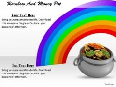 Stock Photo Rainbow And Money Pot PowerPoint Template