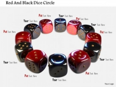 Stock Photo Red And Black Dice Circle PowerPoint Slide