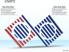 Stock Photo Red And Blue Unity Icon Design PowerPoint Slide
