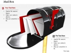 Stock Photo Red And White Envelopes In Mail Box PowerPoint Slide