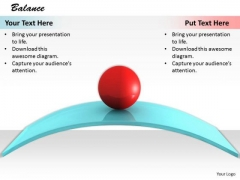 Stock Photo Red Ball On Slope Shows Balance PowerPoint Slide