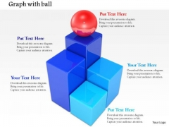 Stock Photo Red Ball On Top Of Bars PowerPoint Slide