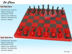 Stock Photo Red Chess Board Game In Red Color PowerPoint Slide